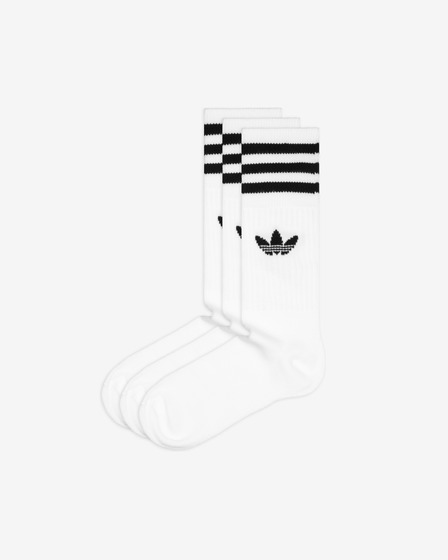 adidas Originals Solid Crew Set of 3 pairs of socks