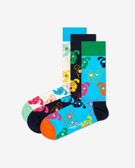 Happy Socks Dog Gift Box Set of 3 pairs of socks